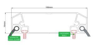 Aluminum Profile 100x30 - Technical Draw