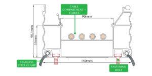 Aluminum Profile 150x100 - Technical Draw - Core