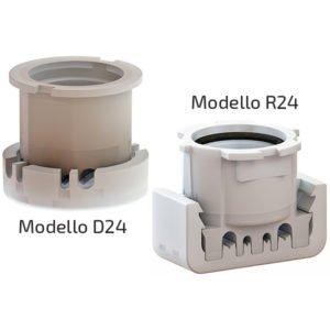 Portalampade D24 + R24